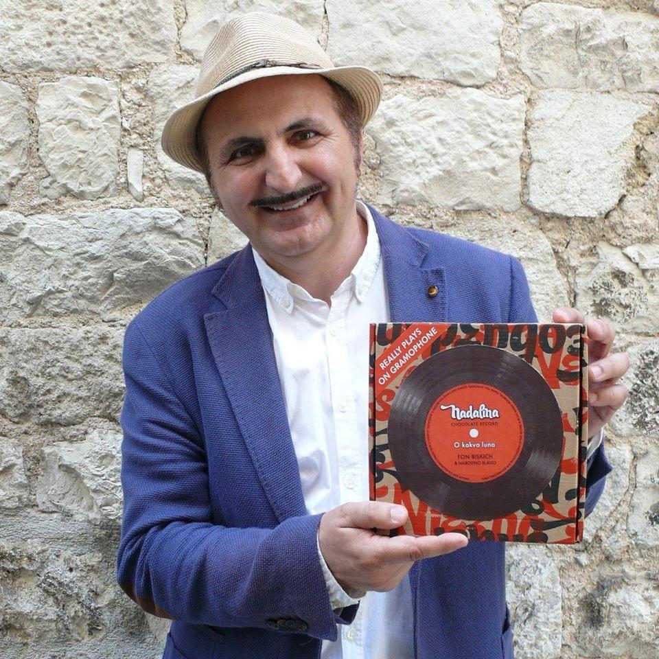 Marinko Biškić čokoladna gramofonska ploča